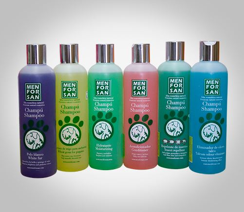 Dog shampoos for all different types of hair.