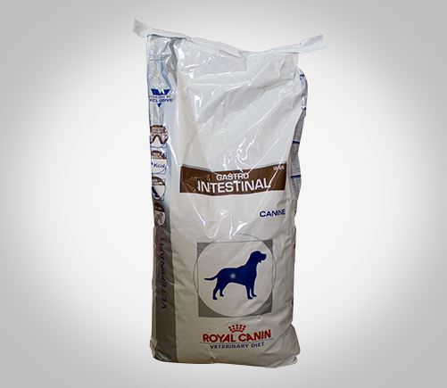 Royal Canin therapeutic dog food for gastroenteritis related conditions.