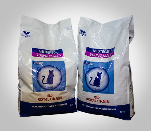 Royal Canin specialised dry food for neutered young adult cats.