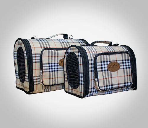 Fabric carry bags for your pet.